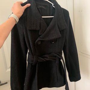 Zara black wool peacoat!